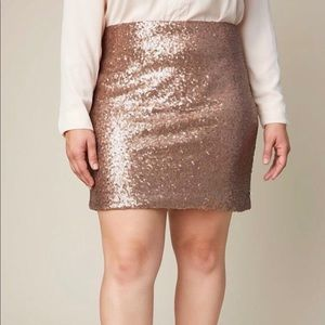 Hayden sequin mini skirt size 2x Bronze Gold